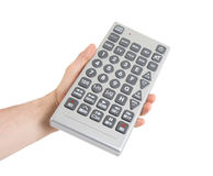 Media conceptual image - Unusual large remote control Stock Photos