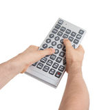 Media conceptual image - Unusual large remote control Royalty Free Stock Images