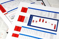 Media Content Analysis. In Statistics and Graphs Royalty Free Stock Images