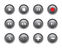 Media control buttons Royalty Free Stock Photo