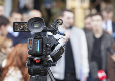 Media coverage of an event Royalty Free Stock Images