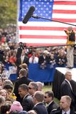 Media covers US Senator Barack Obama Stock Image