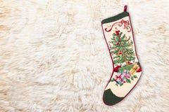 Media cruzada de la puntada de la Navidad Fotografía de archivo