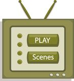 Media d'ANG de télévision Illustration Stock