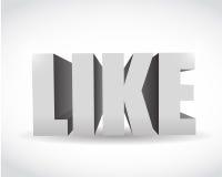 media 3d social comme la conception d'illustration des textes Image libre de droits