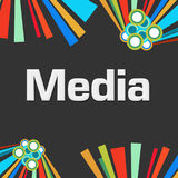Media Dark Colorful Elements Background Stock Image