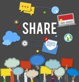 Media de courrier de part tendant le concept social de media Images libres de droits