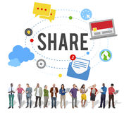Media de courrier de part tendant le concept social de media Photographie stock