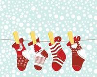 Media de la Navidad ilustración del vector