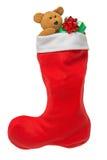 Media de la Navidad aislada en blanco imagen de archivo libre de regalías