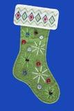 Media de la Navidad del fieltro del verde Fotografía de archivo