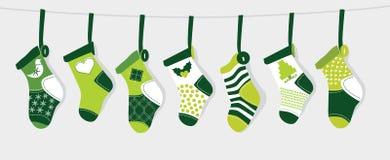 Media de la Navidad - verde stock de ilustración