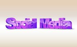 media de social du mot 3d Photo libre de droits