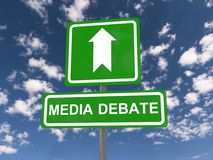Media debate Royalty Free Stock Images