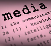 Media Definition Shows Social Media Or Stock Image