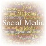 Media del Social della nube della modifica Fotografia Stock Libera da Diritti
