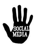 Media del sociale di Handprint Fotografia Stock