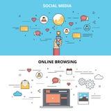 Media del sociale di Infographic Fotografie Stock