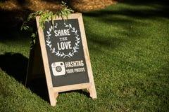 Media del sociale di nozze Fotografia Stock