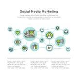 Media della rete sociale che commercializzano concetto Fotografia Stock