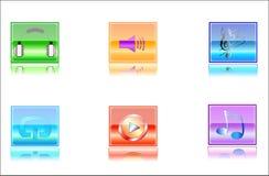 Media delle icone Immagini Stock