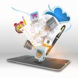 Media dello Smart Phone Immagini Stock Libere da Diritti