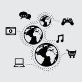 Media design. Media graphic design , vector illustration Royalty Free Stock Image