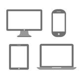 Media device icon. S set isolated on white background Royalty Free Stock Image