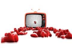 Media di amore della televisione Fotografie Stock