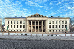 Media di Domus, la più vecchia costruzione dell'università di Oslo, Norvegia Immagini Stock Libere da Diritti
