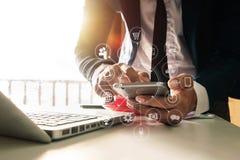 Media di vendita di Digital in schermo virtuale Affare illustrazione di stock