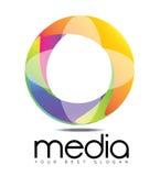 Media die het Embleem van de Bedrijfcirkel adverteren Stock Fotografie