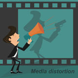 Media distortion Royalty Free Stock Photography