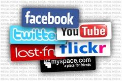 Media do social do vetor Imagem de Stock