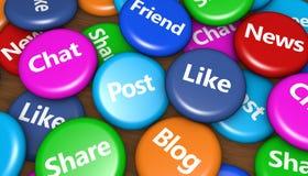Media e conceito sociais da rede Fotografia de Stock Royalty Free