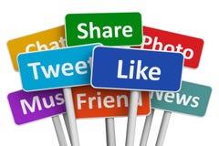 Concetto sociale di media illustrazione vettoriale
