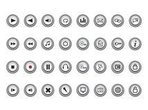 Media e iconos del Web Foto de archivo libre de regalías