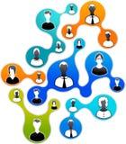 Media e ilustración sociales de la red imagen de archivo