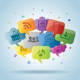 Media e negócio sociais do Internet Foto de Stock