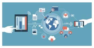 Media e tecnologia sociali royalty illustrazione gratis