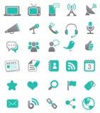 Media ed icone di comunicazione Immagine Stock Libera da Diritti