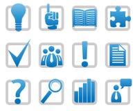 Media ed icone di informazioni illustrazione di stock