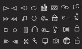 Media ed icone di Web Fotografia Stock
