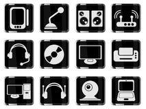Media eenvoudig pictogrammen Stock Afbeeldingen
