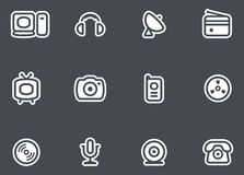 Media, Electronics & Communications - Vector Icons Royalty Free Stock Photos