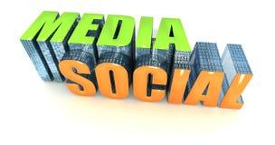 Media em linha novos Foto de Stock