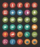 Media en communicatie pictogrammen Royalty-vrije Stock Afbeeldingen