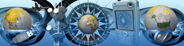 Media en verbindende werelden Stock Afbeelding