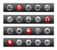 Media & Entertainment // Button Bar Series Stock Image