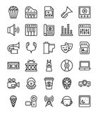 Media and Entertainment Icons Set vector illustration